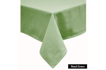 Cotton Blend Table Cloth Reed Green by Hoydu