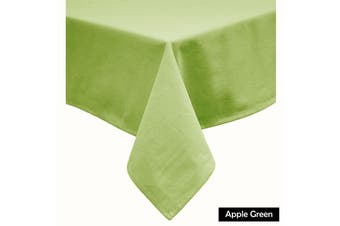 Cotton Blend Table Cloth Apple Green 230cm Round