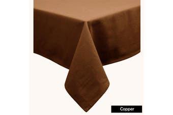 Cotton Blend Table Cloth Copper 230cm Round
