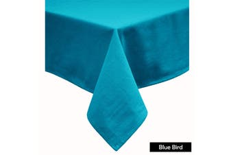 Cotton Blend Table Cloth 160cm x 260cm  - BLUE BIRD
