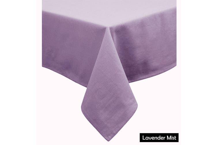 Cotton Blend Table Cloth Lavender Mist 160x260cm