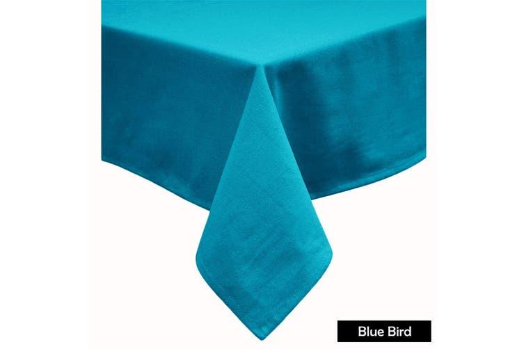 Cotton Blend Table Cloth 170cm x 310cm  - BLUE BIRD