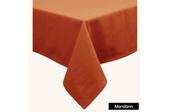 Cotton Blend Table Cloth Mandarin 170x420cm
