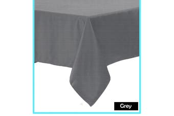 Polyester Cotton Tablecloth Grey - 220 cm