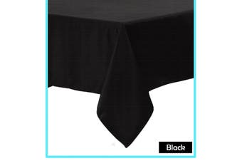 Polyester Cotton Tablecloth Black 160 x 270 cm
