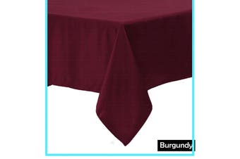 Polyester Cotton Tablecloth Burgundy Rectangle