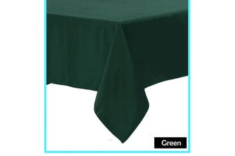 Polyester Cotton Tablecloth Green Rectangle