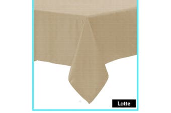 Polyester Cotton Tablecloth Latte Rectangle