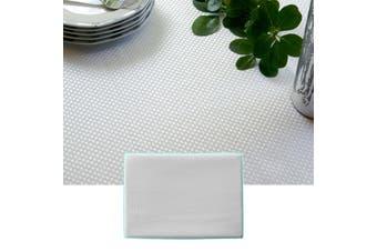 Prestige Jacquard White Table Cloth by Invitation