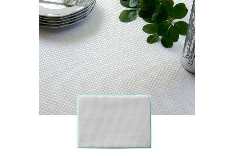Prestige Jacquard White Table Cloth 135 x 180 cm