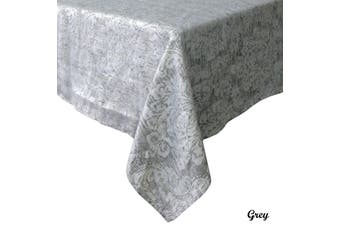 Royale Damask Table Cloth Grey