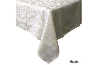 Royale Damask Table Cloth Cream Rectangle