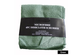 Pack of 4 - Dish Scrubber Cloth - GREEN