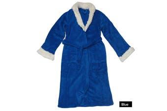 Sherpa Bath Robe Blue S/M