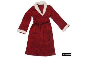 Sherpa Bath Robe Burgundy S/M