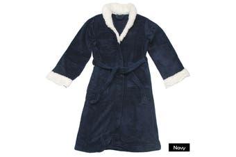 Sherpa Bath Robe Navy S/M