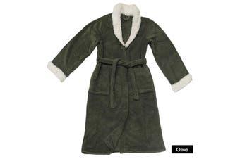 Sherpa Bath Robe Olive S/M