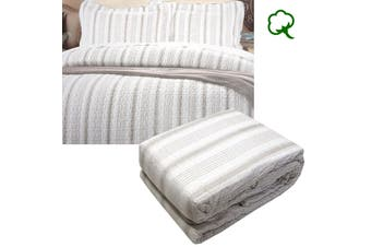 Regatta Stone Quilted Quilt Cover Set King
