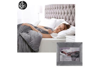 Grey Removable Blanket Cover Queen