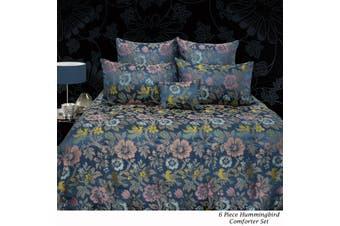 6 Piece Hummingbird Comforter Set QUEEN by Grand Aterlier