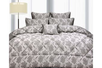 Jacquard CRANBROOK Comforter Latte QUEEN by Accessorize