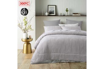 3 Pieces 300TC Java Natural Jacquard Comforter Set by Accessorize