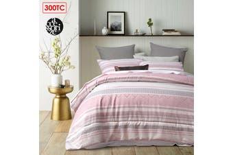 3 Pieces 300TC Pitaya Pink Jacquard Comforter Set by Accessorize