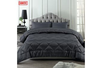 3 Piece Waffle Slate Comforter Set Queen by Accessorize