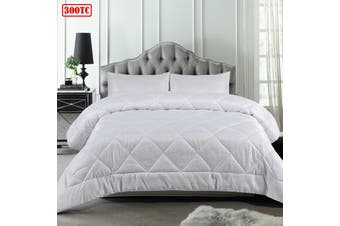 3 Piece Waffle White Comforter Set Queen by Accessorize