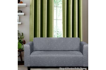 Easy Fit Sofa Cover 3 Seater Grey by Home Innovations