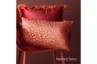 Felidea Terra Filled Oblong Cushion by Bedding House