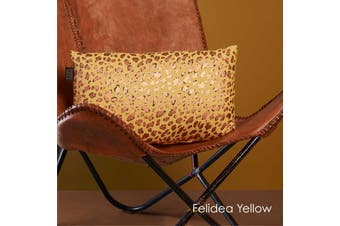Felidea Yellow Filled Oblong Cushion by Bedding House