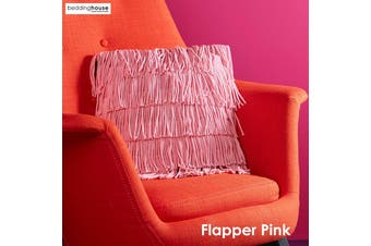 Flapper Pink Filled Square Cushion by Bedding House