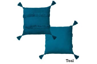 Indra Cotton Cover Filled Cushion Teal by Accessorize