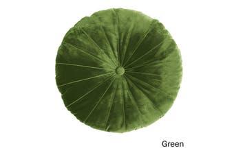 Mandarin Round Velvet Cushion Green