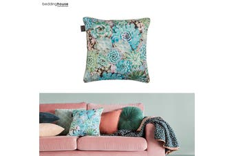 Plantiful Green Filled Square Cushion by Bedding House