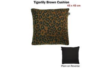 Tigerlily Brown Cushion
