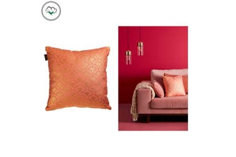 Wavey Pink Quality Design Filled Cotton Cushion 40 x 40 cm by Bedding House