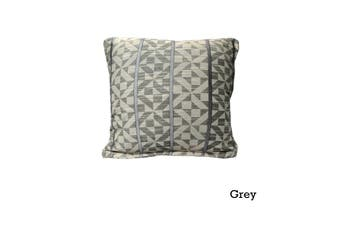 Checks Cushion Cover Grey by Home Innovations