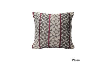 Checks Cushion Cover Plum by Home Innovations