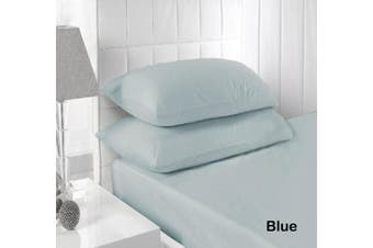 250TC Fitted Sheet Set Blue - King