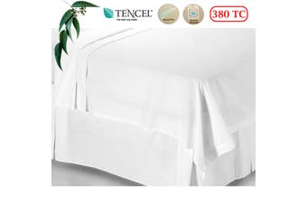 380TC Tencel White Flat Sheet King by Accessorize