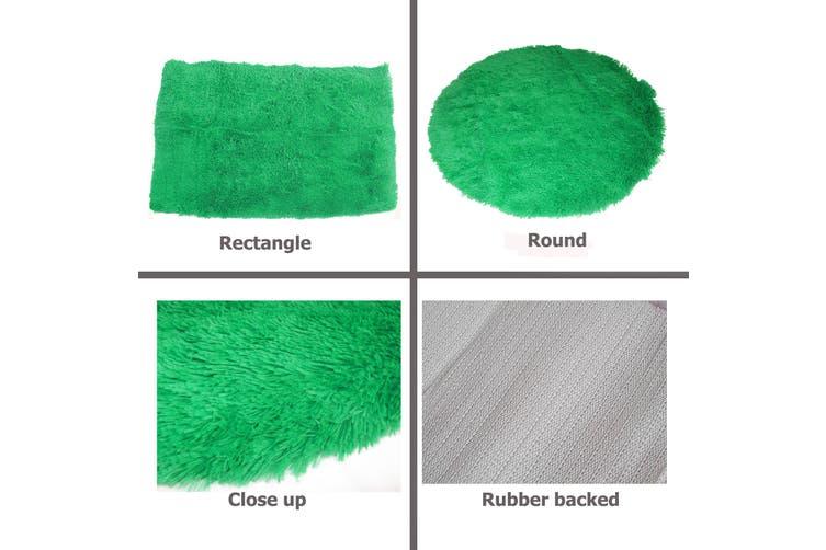 LONG HAIR Floor Rug Lime Rectangle