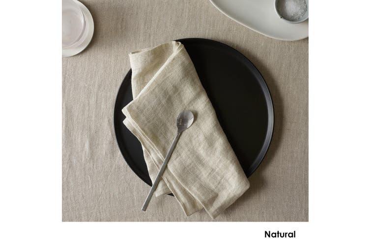 Set of 4 Sentosa Yarn Dyed Linen Napkins Natural by Vintage Design Homewares