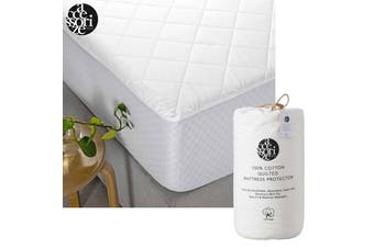 Cotton Quilted Mattress Protector Single