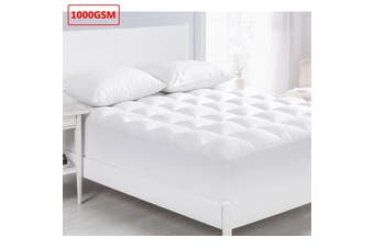 1000GSM Memory Resistant Microball Fill Mattress Topper King Single