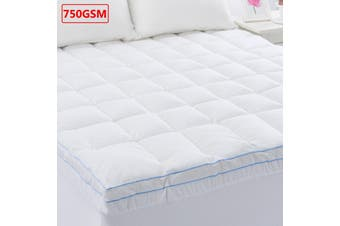 750GSM Memory Resistant Microball Fill Mattress Topper King Single