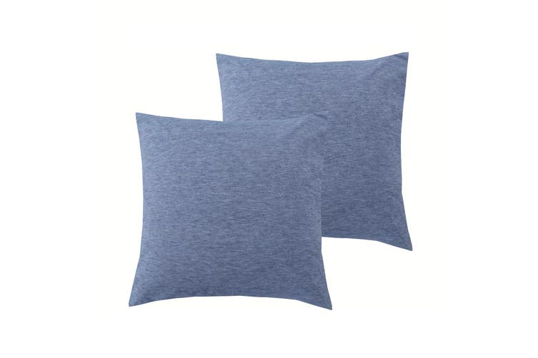 Pair of Stonewashed Linen Cotton European Pillowcases by Accessorize