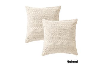 Tenille Natural Pair of European Pillowcases