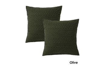 Tenille Olive Pair of European Pillowcases